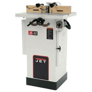 Jet Jws 22cs 1 1 2hp Shaper 1ph 115 230v 1 2 And 3 4 Spindle 708320