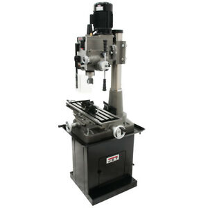 Jet 351160 1 1 2 inch Square Column Mill drill W Downfeed And 2 axis Dro