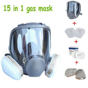 Chemicals 15 In 1 Suit Full Face Gas Mask F 3m 6800 Facepiece Respirator
