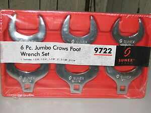 6pc Jumbo Crows Foot Wrench Set aircraft aviation automotive truck Tools