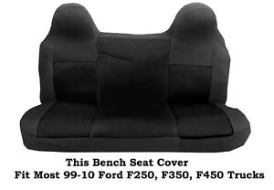Black Mesh Fabric Bench Seat Cover Ford F 250 f 350 f 450 Fit 99 2010 Truck s