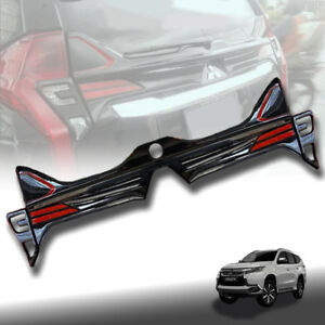 Gloss Black Rear Cover Tailgate Led For Mitsubishi Pajero Sport 2015 16 17 18