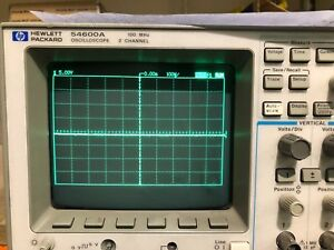 Hp Hewlett Packard Model 54600a Oscilloscope 100 Mhz 2 Channel Tested To Power