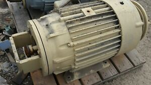 100 Hp Delco 1200 Rpm 460 Volt Fr 445ucy Double Shafts And C Flanges Tefcbb