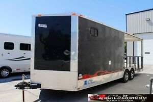 Enclosed Concession Mobile Bbq Food Vending Trailer Salvage 014779