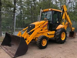 2001 Jcb 214e Series 4 4x4 Awd Backhoe Wheel Loader A c Cab Heat Rear Hyd Hookup