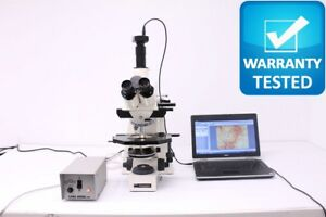 Zeiss Axioplan Microscope brightfield With Phase Contrast Fluorescence