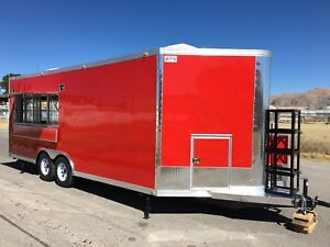 New 20 X 8 5 Concession Food Event Bbq Trailer Restaurant Double Window