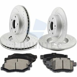 Front And Rear Brake Discs Rotors Ceramic Pads For 2008 2009 2012 Honda Accord