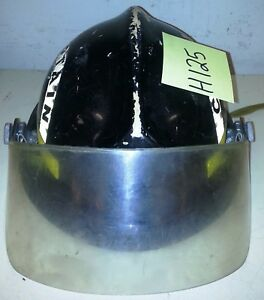 Firefighter Bunker Turnout Gear Morning Pride 72 Plus Black Helmet Visor H125