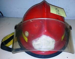 Firefighter Bunker Turnout Gear Morning Pride Lite Force Red Helmet