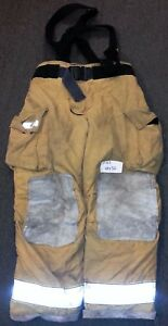 40x32 Pants Suspenders Firefighter Turnout Bunker Fire Gear Globe Gxtreme P703