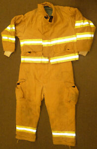 Firefighter Set Jacket Xl Pants Xl Bunker Turn Out Gear Fire Dex S19