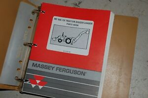 Massey Ferguson Mf 50e 50ex Tractor Digger Loader Farm Tractor Parts Manual Book