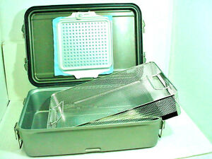 V mueller Genesis Cd2 5b Sterilization Containers Basket 5 Deep Perforated