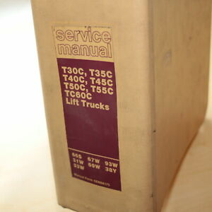 Cat Caterpillar T30c T35c T40c T45c T50c T55c Tc60c Forklift Shop Service Manual