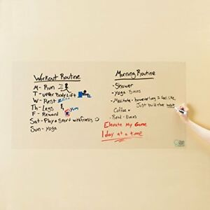 Think Board Clear Self adhesive Whiteboard Wall Sticker 24 X 48 Peel And Dry
