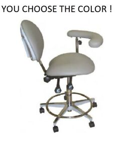 Galaxy 2022 r Ergonomic Dental Assistant s Stool W Ratcheting Body Support