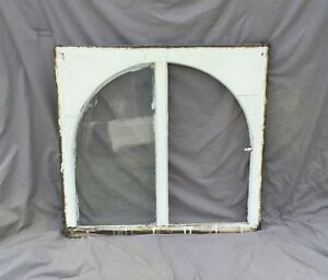Antique Window Sash Dome Top Cabinet Arch Top Shabby Cottage Chic Vtg 981 16