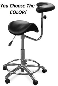 Galaxy 2055 Waterfall Saddle Dental Assistant s Hygienist Seat Arm Stool Chair