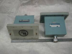 Pair Of Maury Microwave Wr 430 Waveguide To Gr 900 Adapters 2 1 2 4 Ghz Sr81219