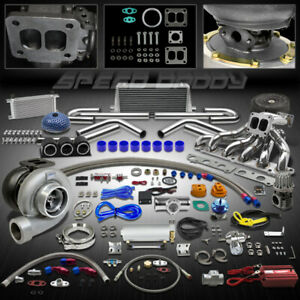 Gt45 24pc Turbo Kit Turbocharger manifold intercooler 86 92 Supra Mk iv 4 7m gte