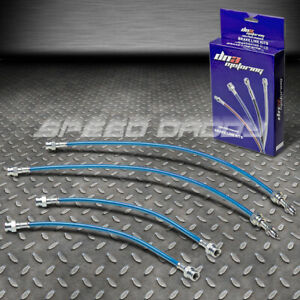 Front rear Stainless Steel Hose Brake Line cable 81 83 Mazda Rx7 Fb S2 12a Blue