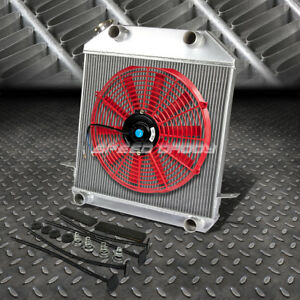 3 Row Radiator 16 Fan Red For 39 41 Ford 39 40 Mercury V8 Flathead Flatty Engine