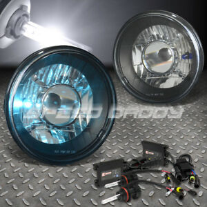 7x7 Round Black Glass Projector Headlight H4 6000k Hid Slim Ballast For Ford