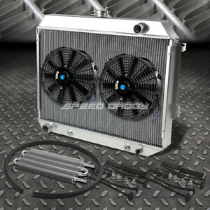 3 Row Aluminum Radiator 2x 10 Fan Kit Toc Oil Cooler For 68 73 Satellite Gtx V8