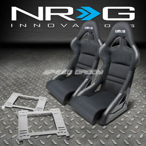 Nrg Deep Bucket Racing Seat Cushion Stainless Steel Bracket For 99 04 Mustang Sn
