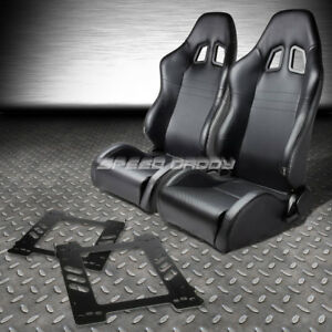 Reclinable Pvc Carbon Style Leather Racing Seat bracket for 92 99 Bmw E36 Coupe