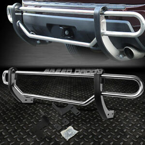 For 09 15 Honda Pilot Suv Stainless Steel Double Bar Rear Bumper Protector Guard