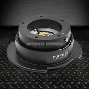 Nrg Steering Wheel Short 5 Hole Gen 2 5 Quick Release Adaptor Black Chrome Ring