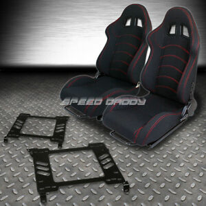 2 Type f1 Fully Reclinable Racing Seats bracket For 98 02 Honda Accord 2dr Coupe