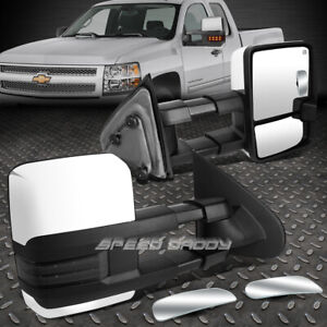 Power Smoked Signal Towing Side Tow safety Blind Spot Mirror For 14 17 Gm K2xx