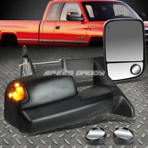 Power Heated Signal Towing Side Tow circle Blind Spot Mirror For 09 12 Dodge Ram