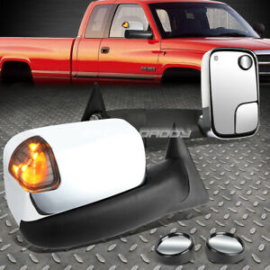 Power smoked Signal Towing Side Tow circle Blind Spot Mirror For 94 01 Ram Truck