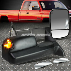 Power Heat Signal Towing Side safety View Blind Spot Mirror For 13 16 Dodge Ram