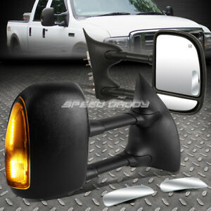Power Heated Smoked Rear Tow Side safety Blind Spot Mirror For 99 07 Superduty
