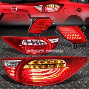 Red Clear 3d Led Tail Lights Red Rear Reflector Lamp For 13 16 Mazda Cx5 Suv