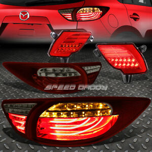 Red Smoked 3d Led Tail Lights Red Rear Reflector Lamp For 13 16 Mazda Cx5 Suv