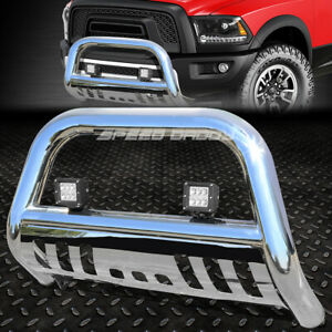 Metallic 3 Bull Bar Bumper Grill Guard led Fog Light For 98 11 Ford Ranger