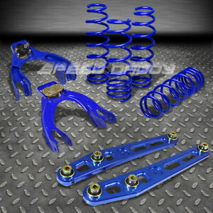 Blue 1 75 Lowering Springs Control Arm Front Camber Kit 92 95 Honda Civic Ek Dc1
