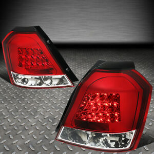 For 04 08 Chevy Aveo 5 Hatchback Pair Red Lens Led Tail Light Brake reverse Lamp