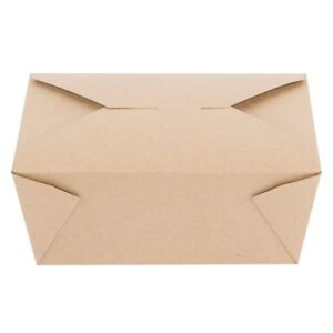 Choice 6 X 4 5 8 X 2 1 2 Kraft Folded Paper 8 Take out Container 300 case