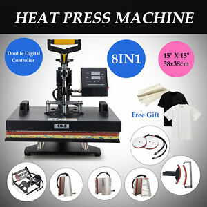 T Shirt Heat Press Machine For Mug Hat Plate Cap Mouse Pad 110v New