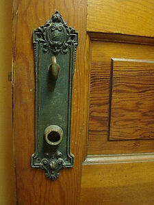 Set Of 2 Yale Oporto Antique Huge Brass 10 Victorian Entry Door Back Plates