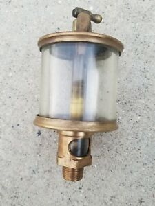 Vintage Michigan Lubricator Co No 485a Hit Miss Engine Brass Lubricator Oiler