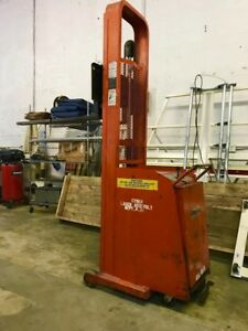 Presto Electric Lift Model C74a 1000 Lbs Capacity Counter Weight Pallet Stacker